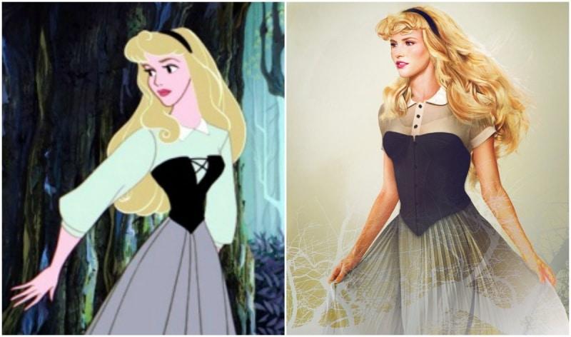 Cómo se verían las princesas de disney en la vida real 13