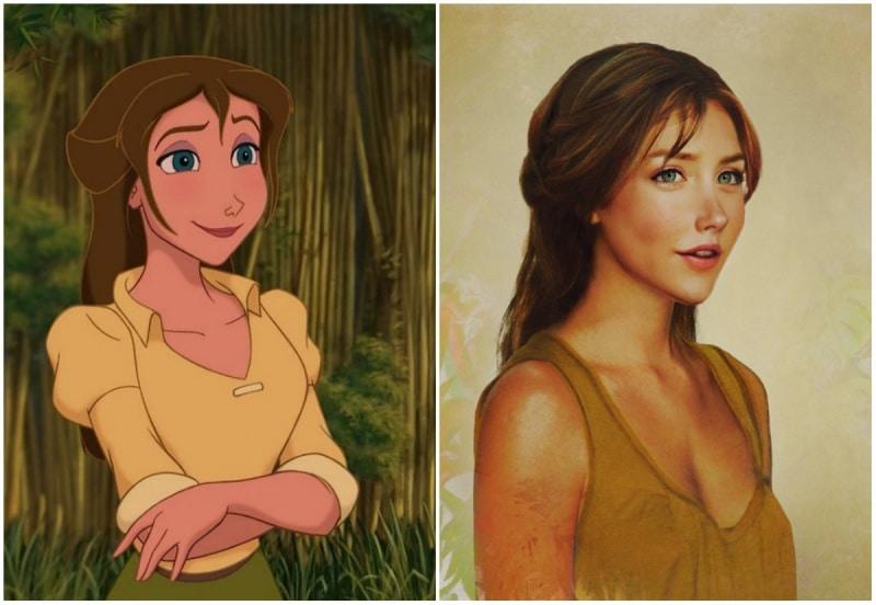 Cómo se verían las princesas de disney en la vida real 3