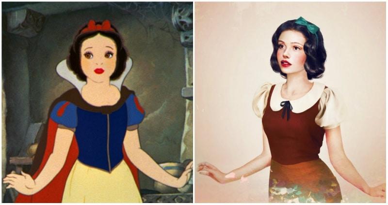 Cómo se verían las princesas de disney en la vida real 8