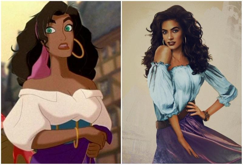 Cómo se verían las princesas de disney en la vida real 9