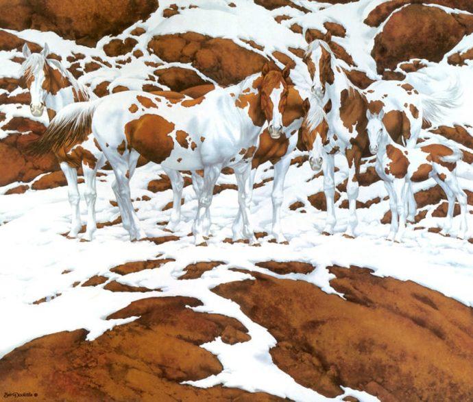 Eres capaz de descubrir el número exacto de caballos que aparece en cada imagen