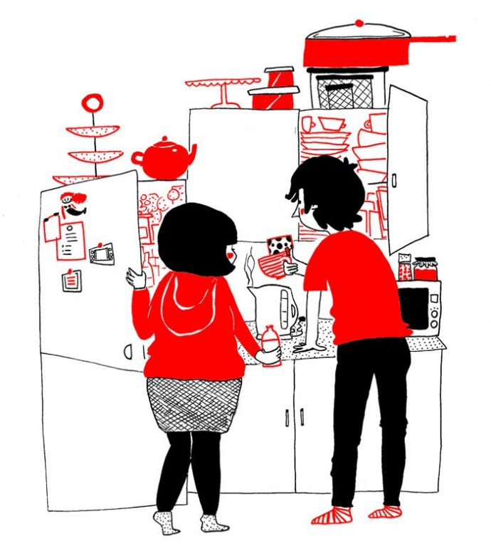 ilustraciones muestran que el amor de verdad está en los pequeños detalles 3
