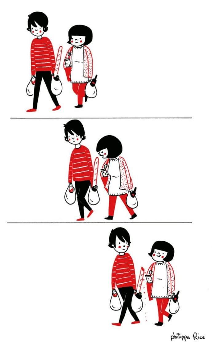 ilustraciones muestran que el amor de verdad está en los pequeños detalles 7