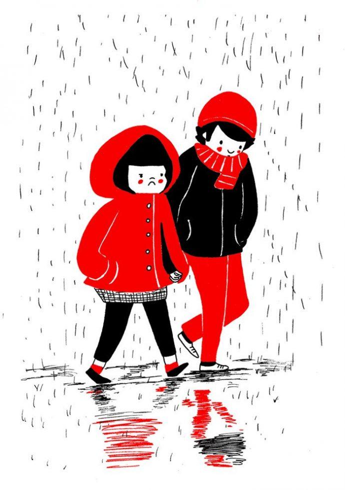 ilustraciones muestran que el amor de verdad está en los pequeños detalles 8