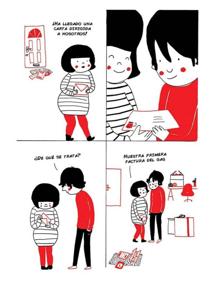ilustraciones muestran que el amor de verdad está en los pequeños detalles 9