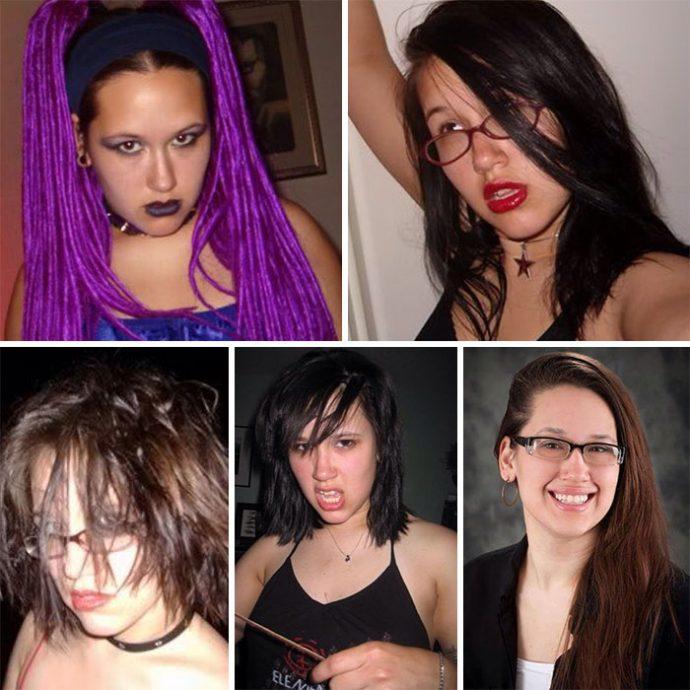 Imágenes del antes y después de adolescentes
