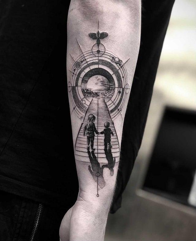 Un tatuaje para mi hermana y para mí.