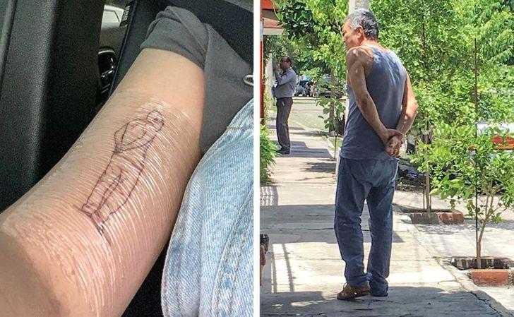 Una usuaria de Reddit comparte este tatuaje de su abuelo